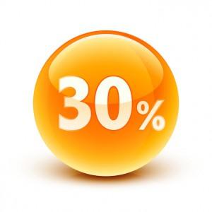 icne 30% / 30% icon